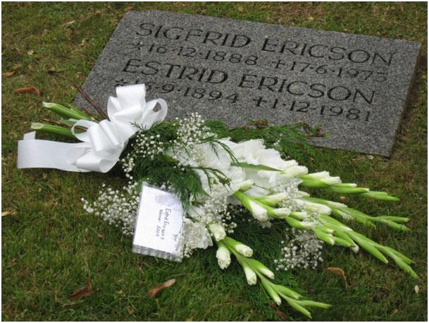 Estrid Ericsons grav i Hjo